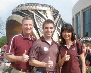 Photo: Trevor Warren and his parents