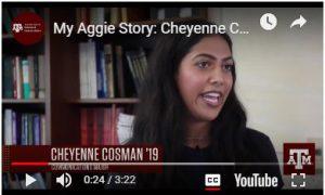 Video: Cheyenne Cosman '19