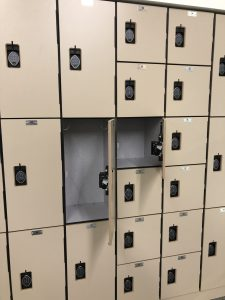 Set of Lockers showing the large and small sizes